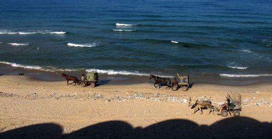 Una playa en la franja de Gaza. / PATRICK BAZ