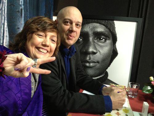 Rosa Rivas y Alberto Luchini, dos miembros del jurado