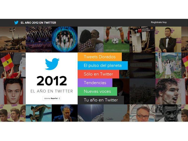Año 2012 en twitter
