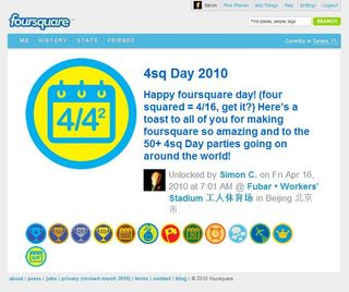 Worlds-first-Foursquare-Day-badge