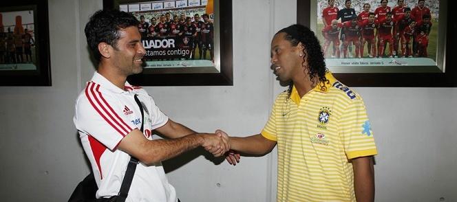 Ronaldinho  en Brasil-Mexico