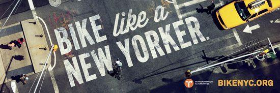 Campaña publicitaria para promocionar las bicis en Nueva York.