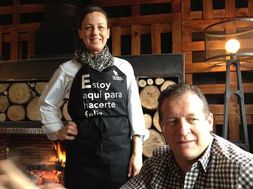 Beatriz y David Jimenez Barbero en el restaurante La Estancia, dentro de La Finca