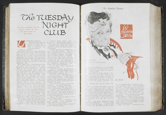 The first appearance of Miss Marple in print in Royal Magazine (1929)