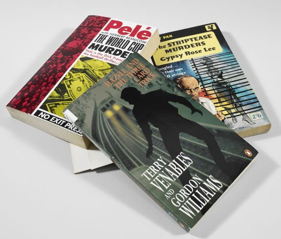 Surprising crime novels... The World Cup Murders, by Pele; Hazel and the Three Card Pack, by Terry Venables and Gordon Williams; The Striptease Murders, by Gypsy Rose Lee