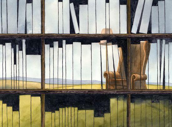 Ilustración de El viento comenzó a mecer la hierba de Kike de la Rubia.