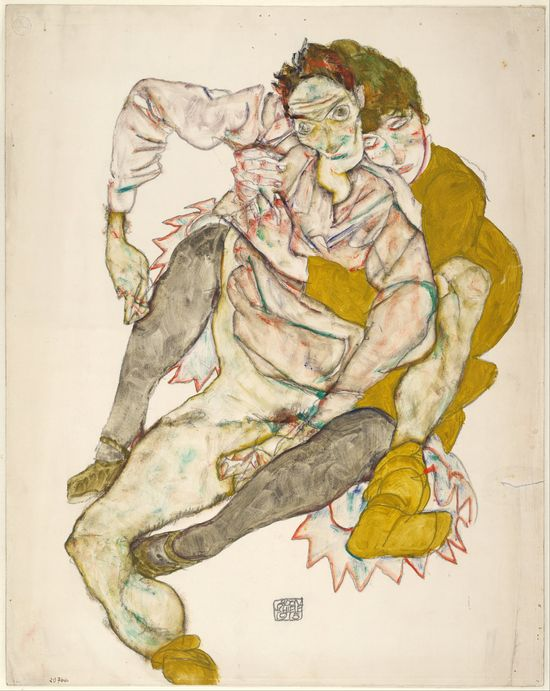 Egon_Schiele_-_Seated_Couple,_1915_-_Google_Art_Project