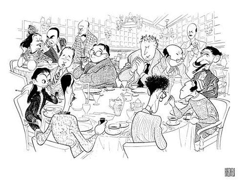 La mesa redonda del Algonquin