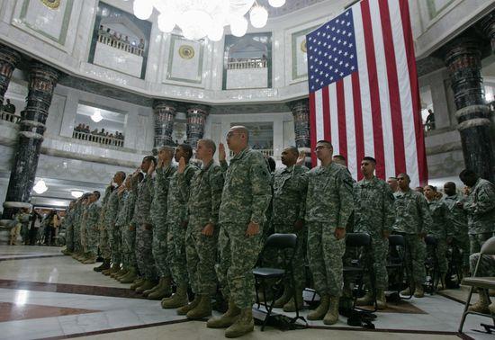 Soldados del Ejército de  Estados Unidos, en Bagdad.