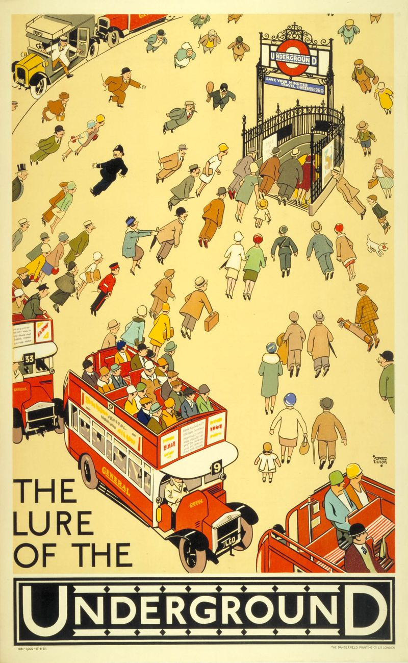 124. The lure of the Underground, by Alfred Leete, 1927