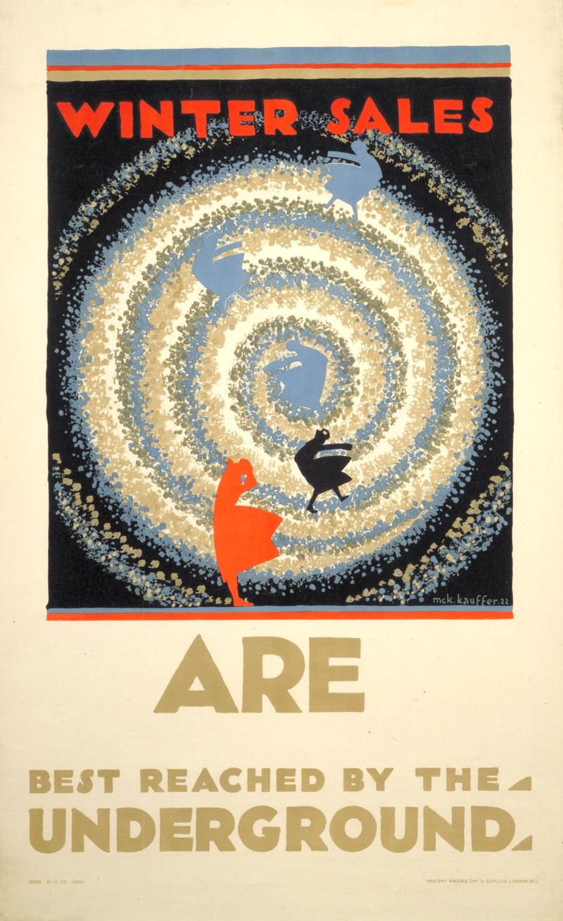 61. Winter sales are best reached by the Underground, by Edward McKnight Kauffer, 1922