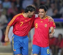Dos deportistas excepcionales, Raúl y Xavi