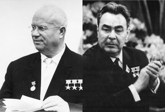 Nikita-khrushchev-1953-1964-defeated-others-in-a-power-struggle-to-take-over-from-stalin-he-was-succeeded-leonid-brezhnev-1964-1982