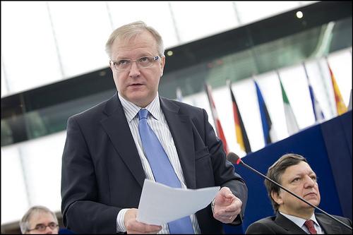 El comisario de Economía, Olli Rehn