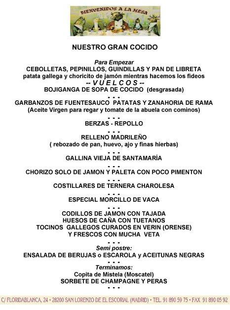 Menú de El Charolés, una exhibición con carnes seleccionadas de distintas procedencias.