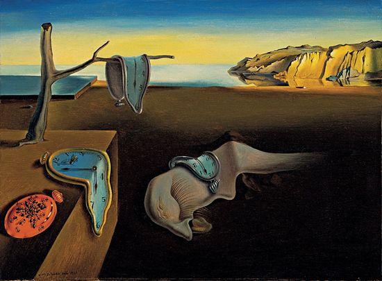 Los relojes blandos de Dali, en La persistencia de la memoria