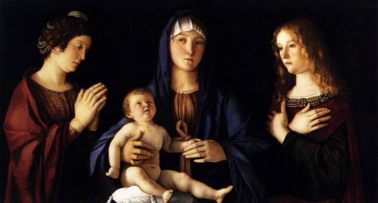 Giovanni_Bellini_-_Madonna_and_Child_with_Two_Saints_(Sacra_Conversazione)_-_WGA1730