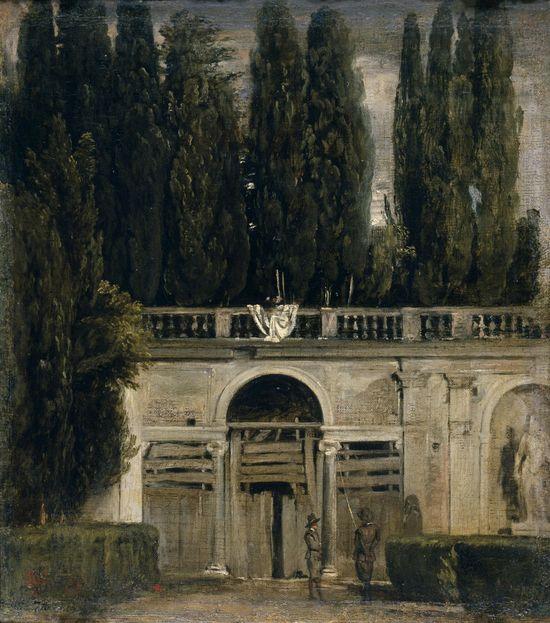 Velázquez_-_Jardín_de_la_Villa_Médicis_en_Roma,_Entrada_de_la_gruta_(Museo_del_Prado,_1630)