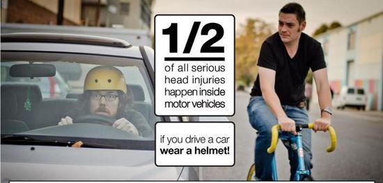 Más de la mitad de los daños en la cabeza ocurren dentro de un vehículo.