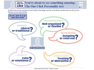 The one click personality test