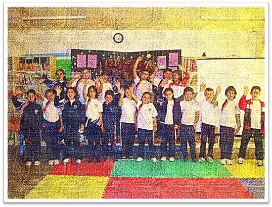 Alumnos y alumnas de 4º de Educación Primaria del Colegio Público 'Toscal-Longuera' de 'Los Realejos', en la isla de Tenerife