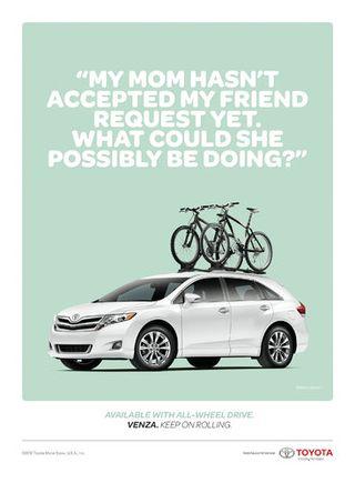 Toyota social ads
