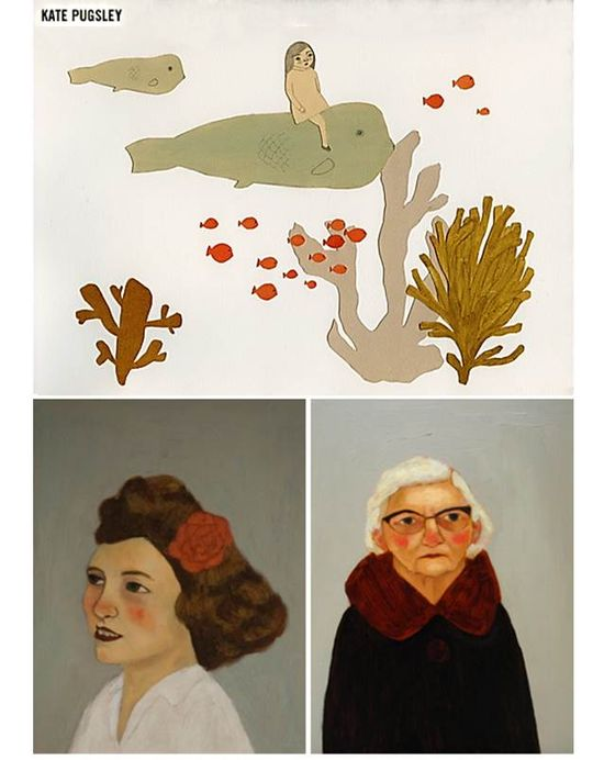 'Fish Ride', 'Flower Girl' y 'Gemelia' by Kate Pugsley, referenciada en The Jealous Curator