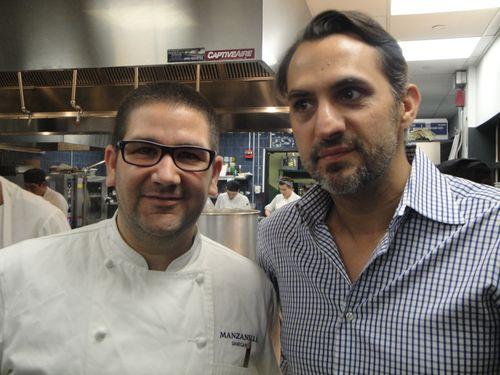 Dani García con su socio francés, el hostelero Yann de Rochefort