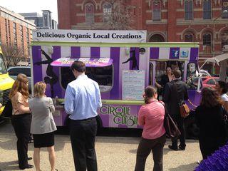 Comida orgánica en un food truck de Washington