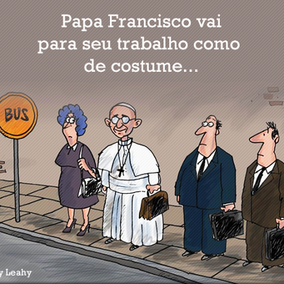 Viñeta sobre papa Francisco