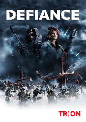 Portada del videojuego de Defiance
