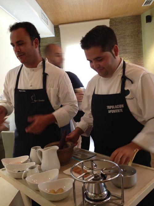 Ángel León y Juanlu, jefe de cocina, su brazo derecho en Aponiente
