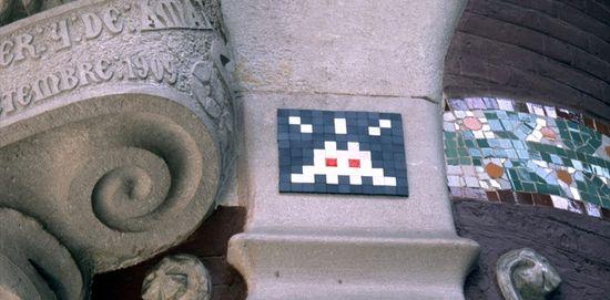 Invader en el Palau de la Música de Barcelona