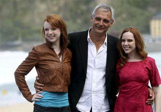 Cantet y las actrices de Foxfire (Foto: EFE)