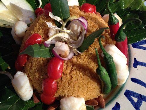 Cous cous de Sicilia, ganador de la segunda semifinal. Elaborado con caldo de pescado y tropezones de rodaballo