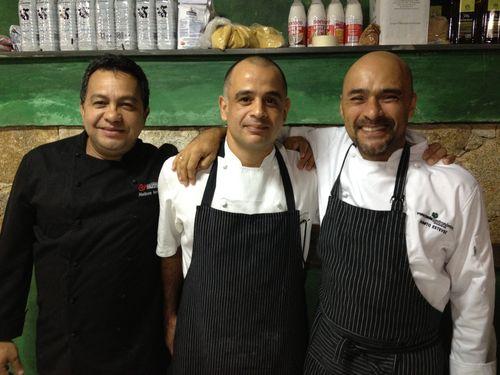 De izquierda a derecha, Nelson Méndez, Héctor Romero y Sumito Estévez