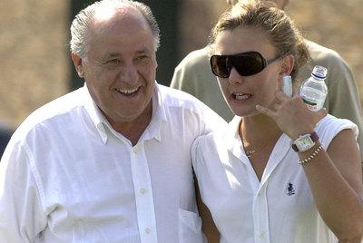 Amancio Ortega, con su hija Marta, posible heredera del imperio Inditex