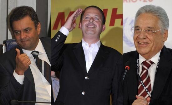 Eduardo Campos, Cardoso y Aecio Neves
