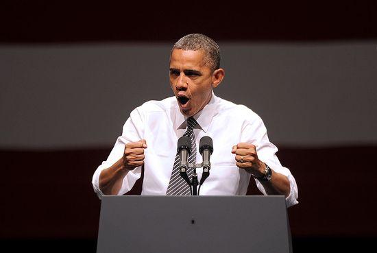 Obama, durante un acto de campaña en San Francisco (Associated Press).