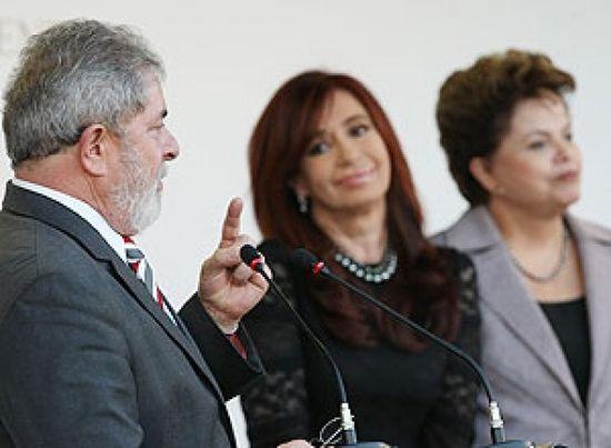 Lula, Cristina y Dilma