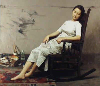 Zhang_Yibo__Artist_at_Rest_1948_