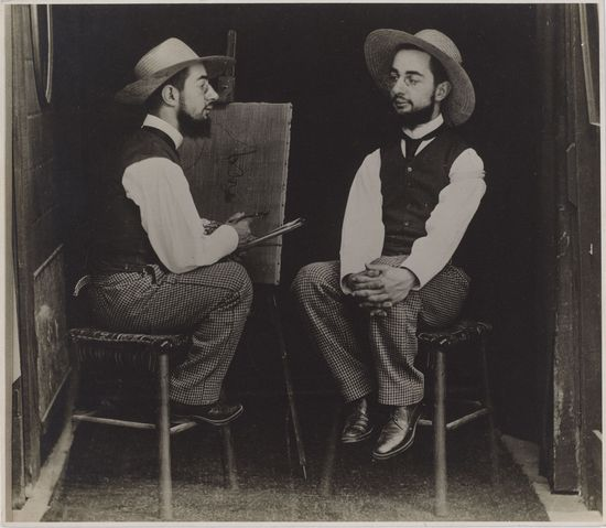 6._Henri de Toulouse-Lautrec as Artist and Model_Maurice Guilbert