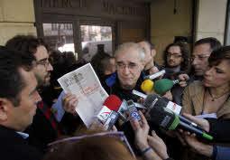 Antxon Etxebeste tras declarar en la Audiencia Nacional