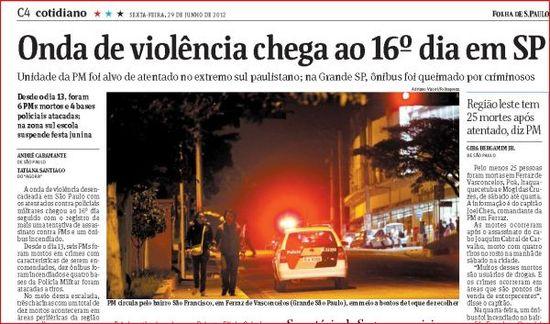 Violencia contra policias en São Paulo