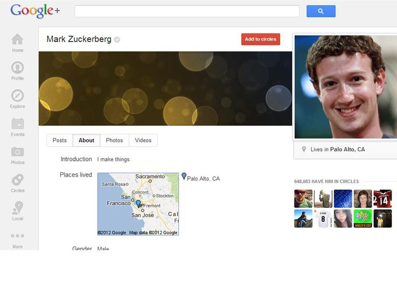 Mark Zuckerberg G+