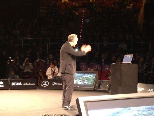 Ferran Adrià en el escenario del congreso El Ser Creativo