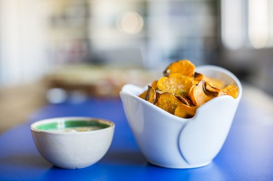 Chips boniato horno
