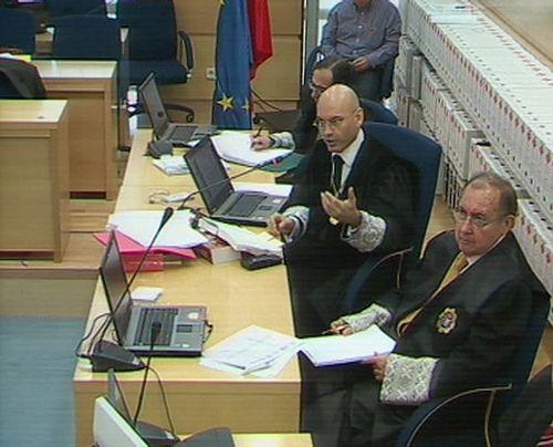 Juicio del 11-M. A la derecha Fernando García Nicolás
