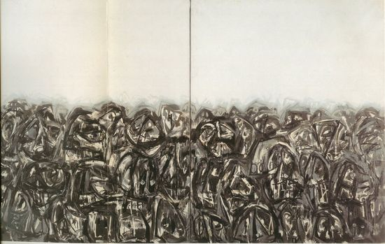 Antonio Saura - Multitud 1962