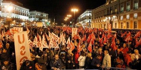 España y Portugal en huelga